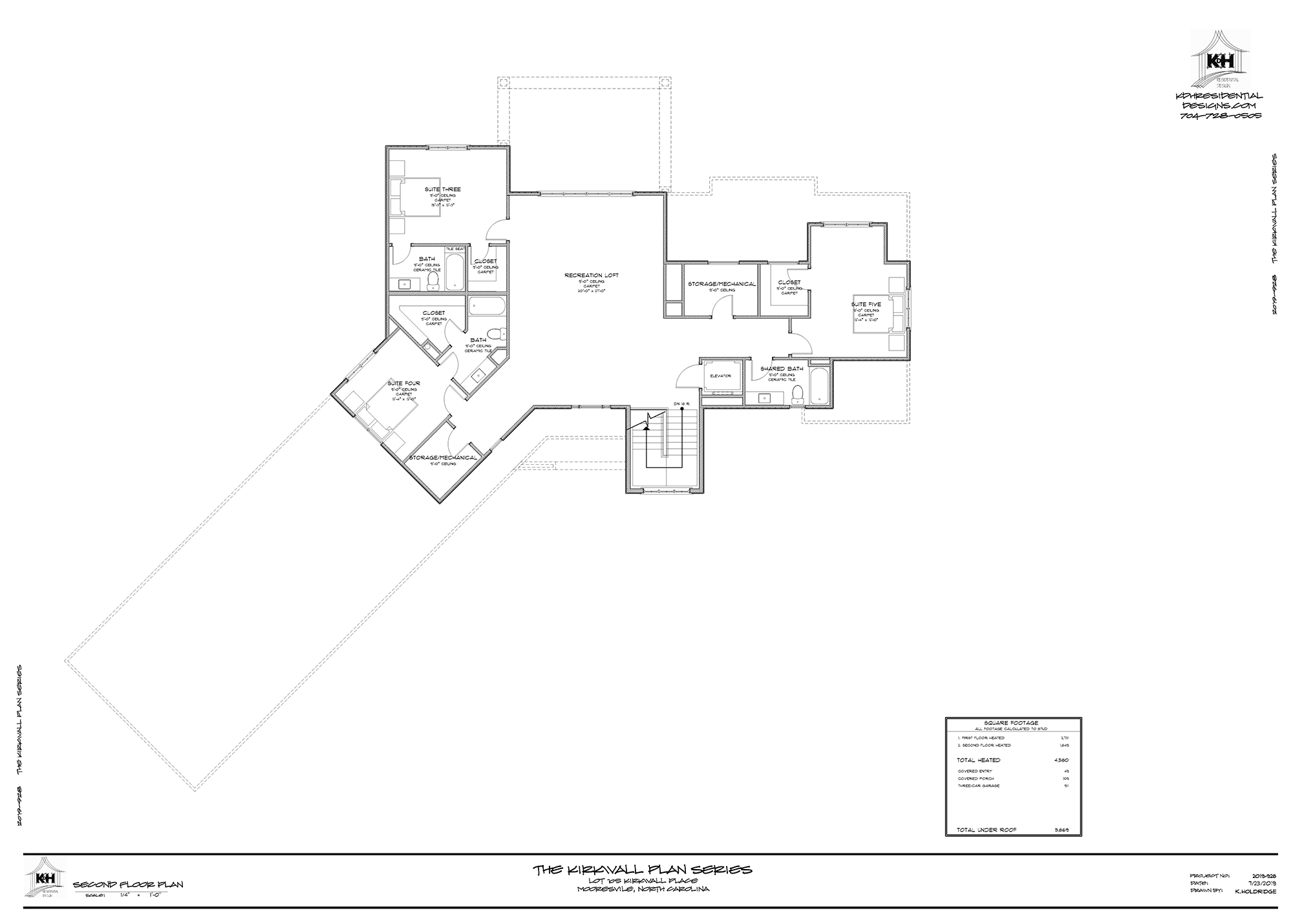 Plan for Proposed Home (Upper Level)