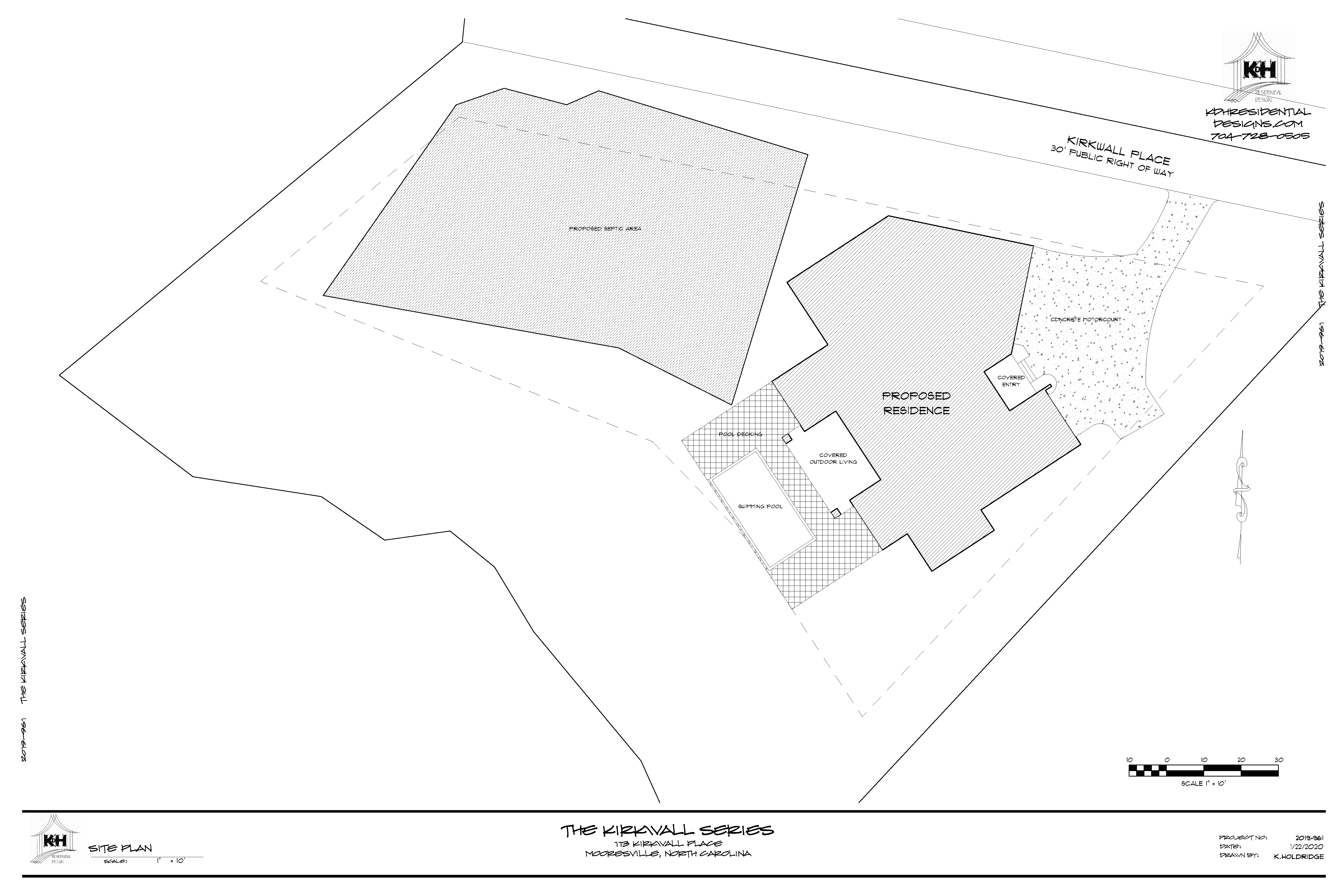 Site Plan for Proposed Home - 113 Kirkwall Place