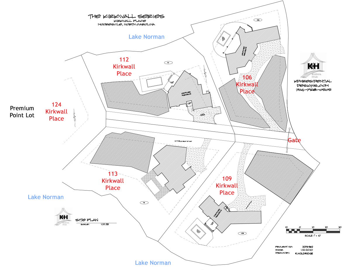 Master Site Plan for Kirkwall Place