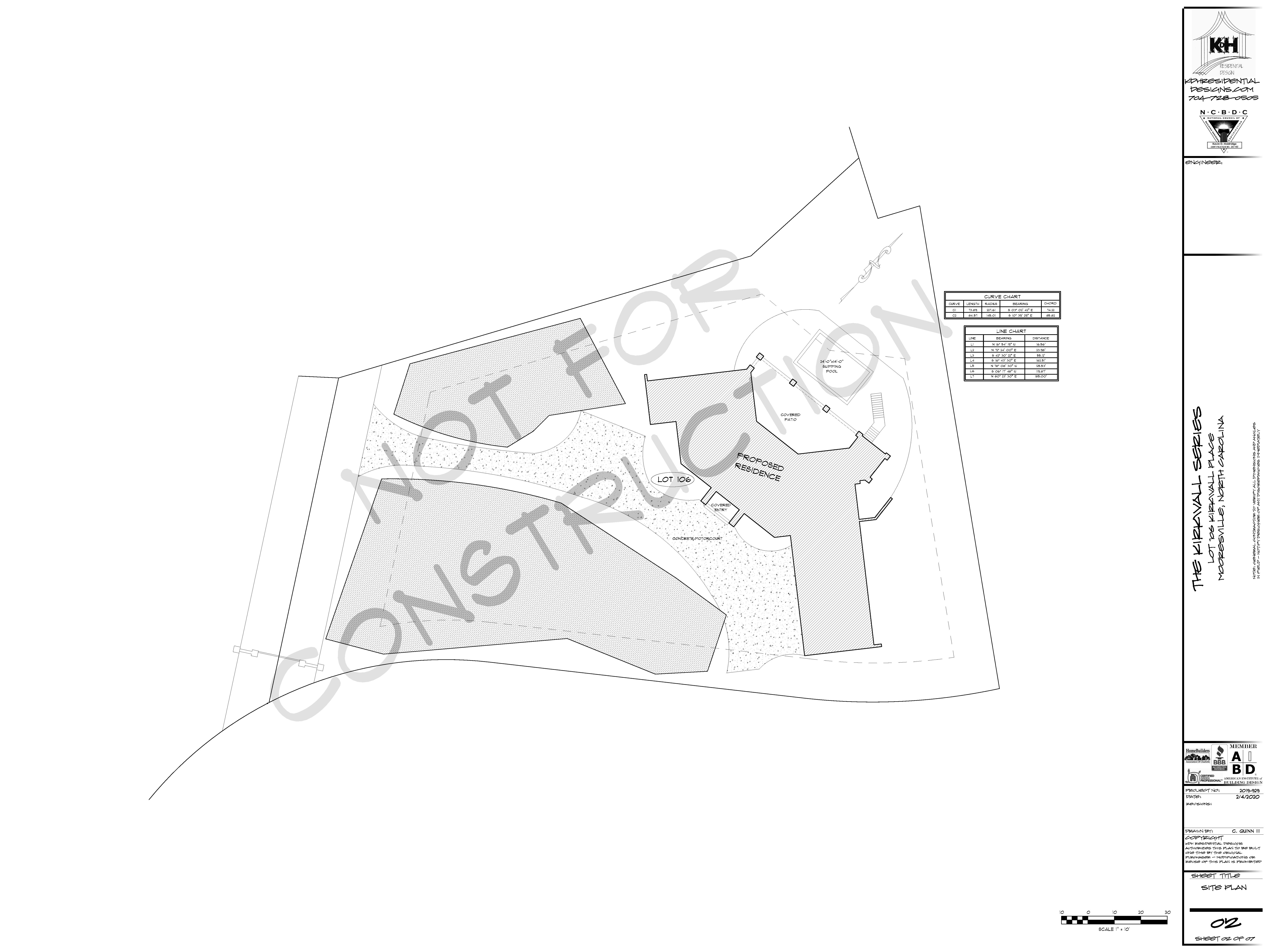106 Kirkwall Place Site Plan