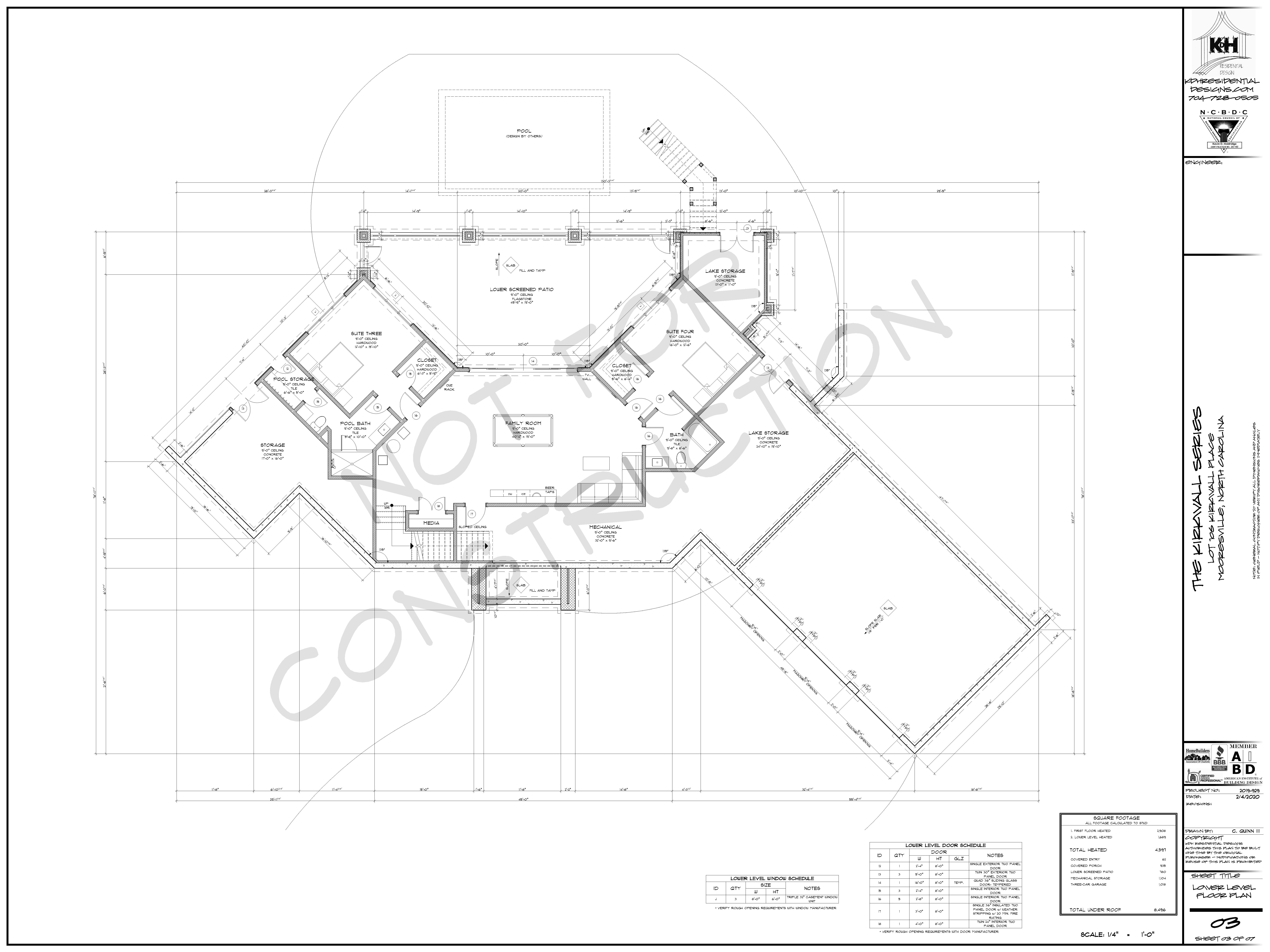 Proposed Floor Plan (Lower Level)