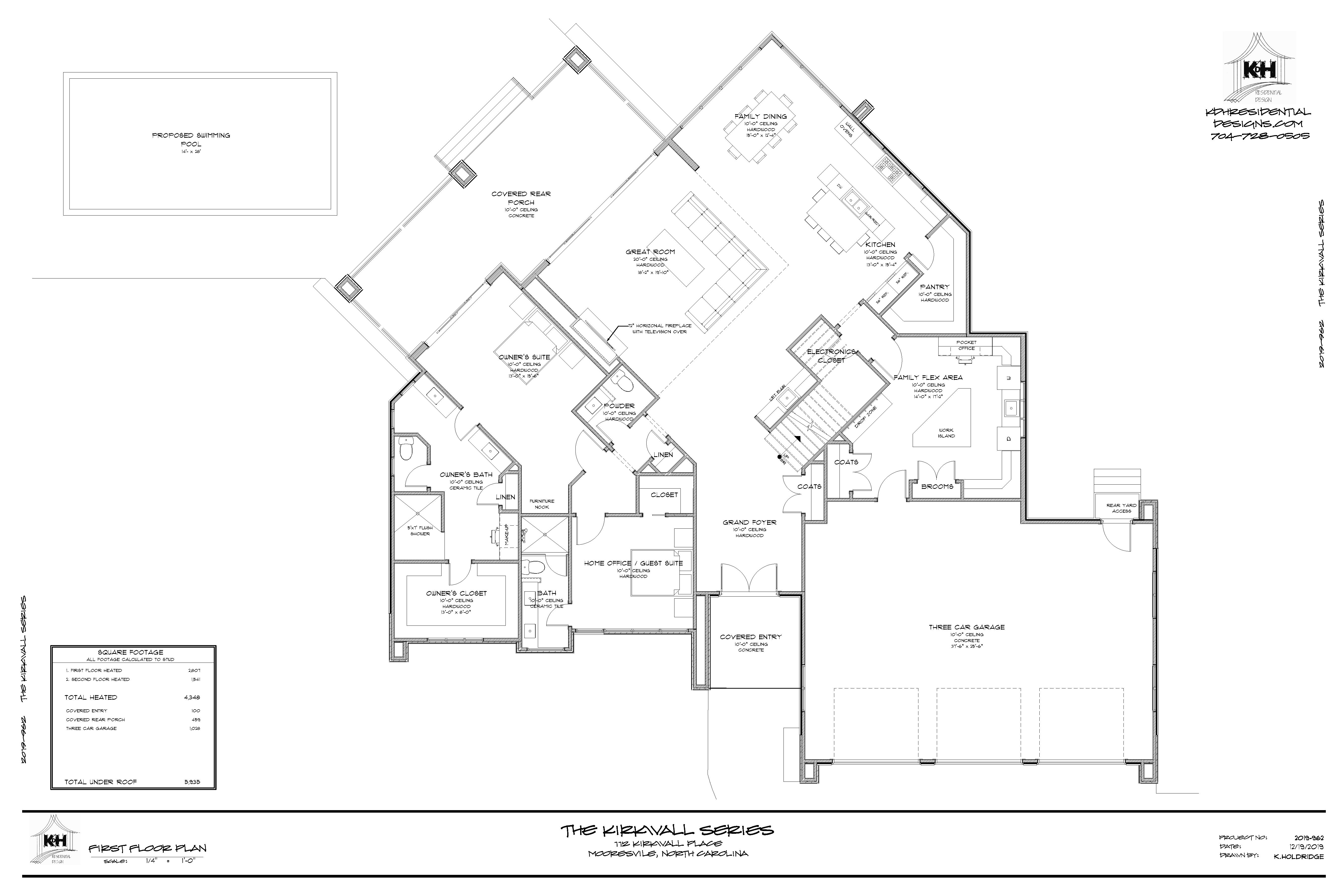 Proposed Floor Plan (Main Level)