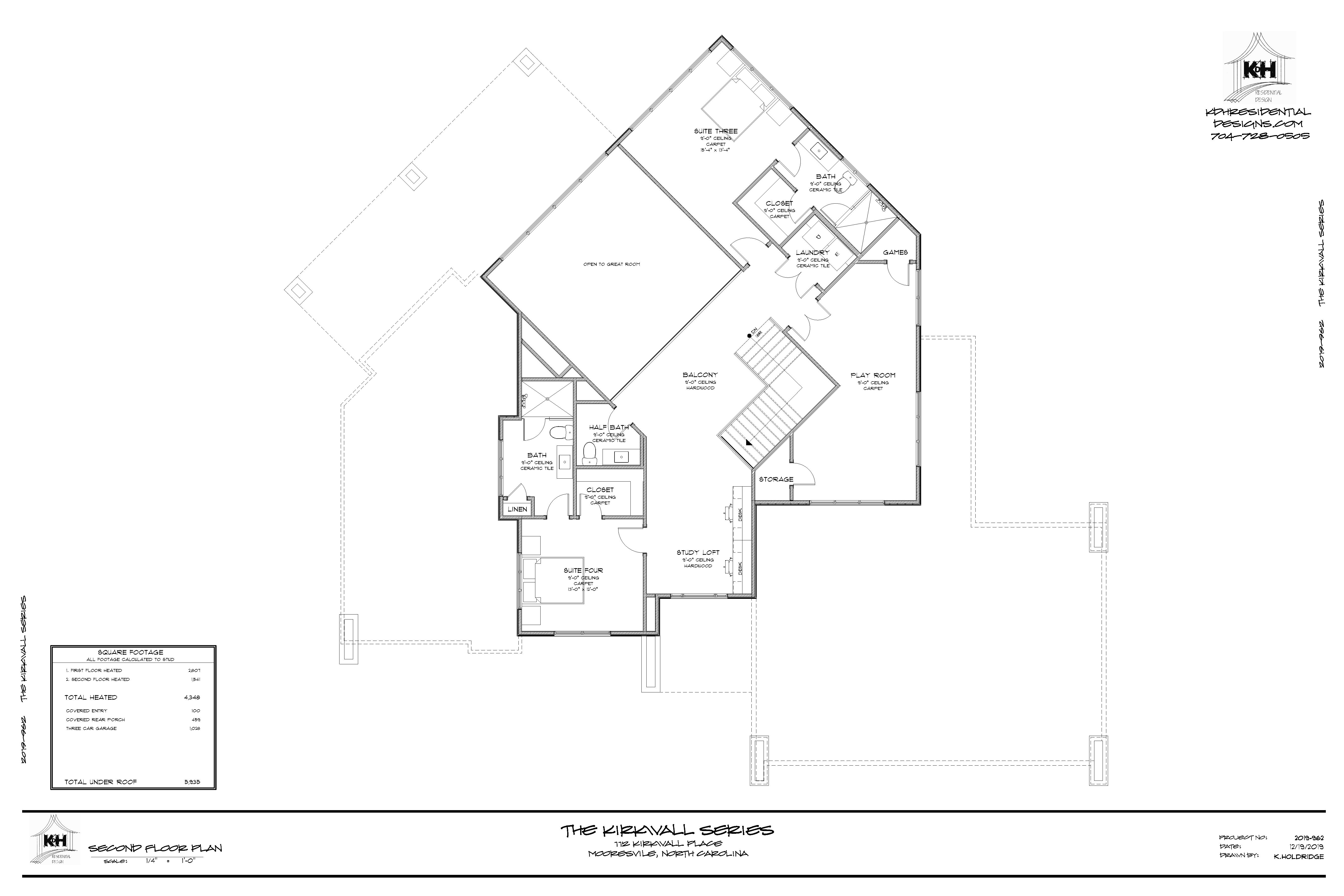 Proposed Floor Plan (Upper Level)