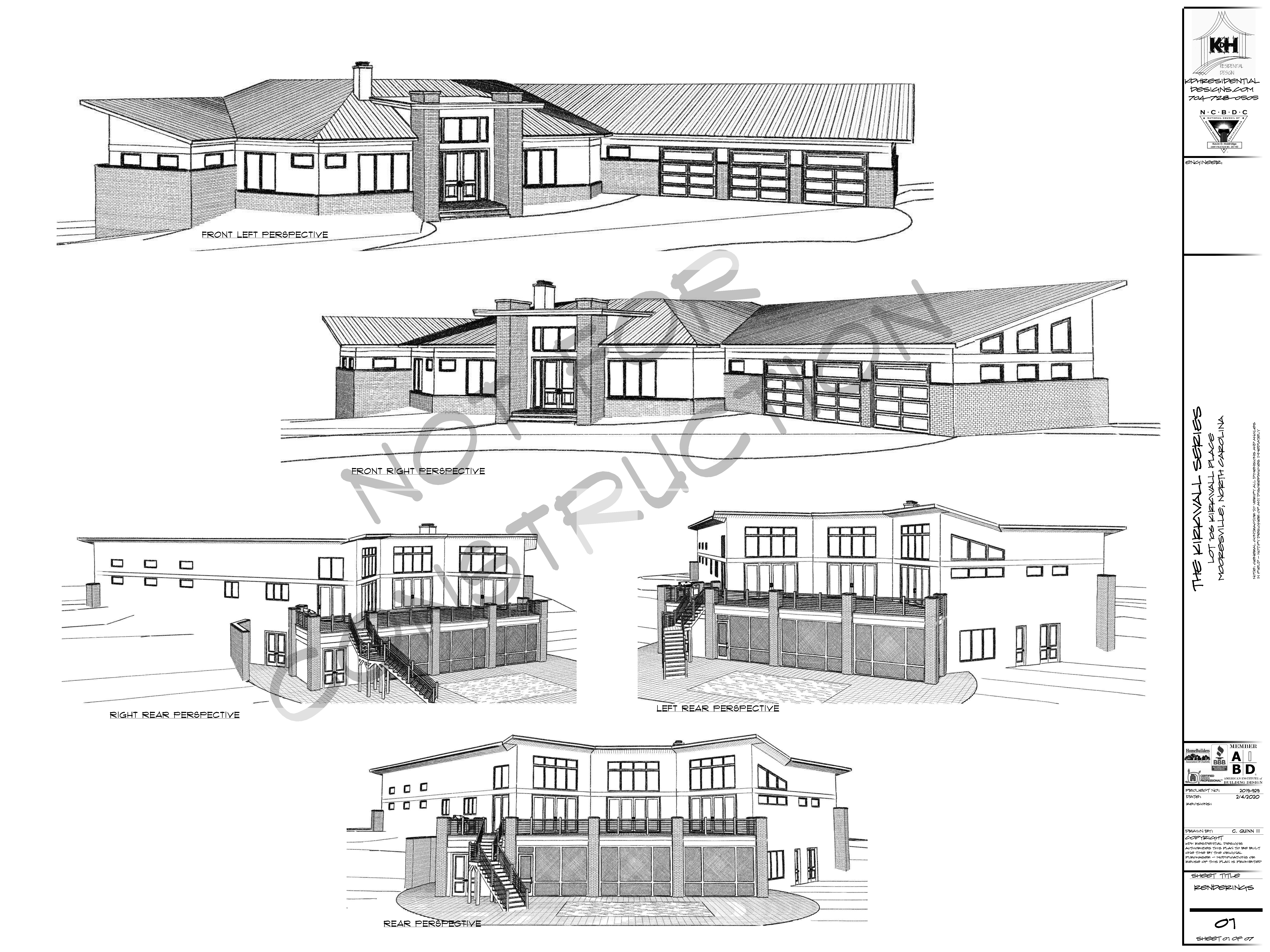 More Renderings of Proposed Home