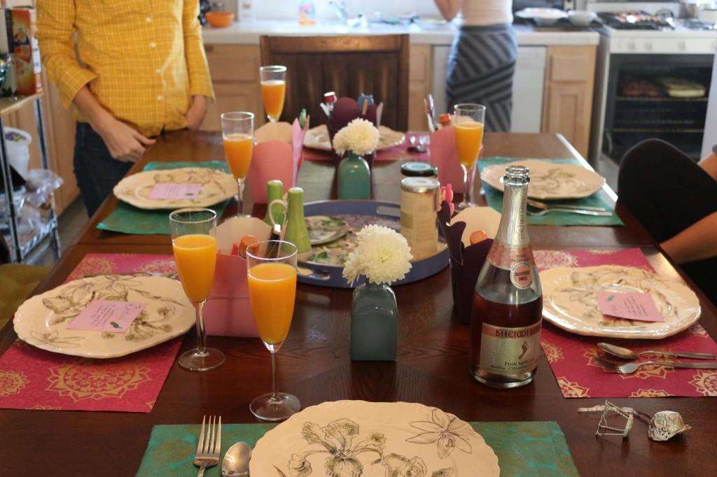 Bridesmaid Party Table