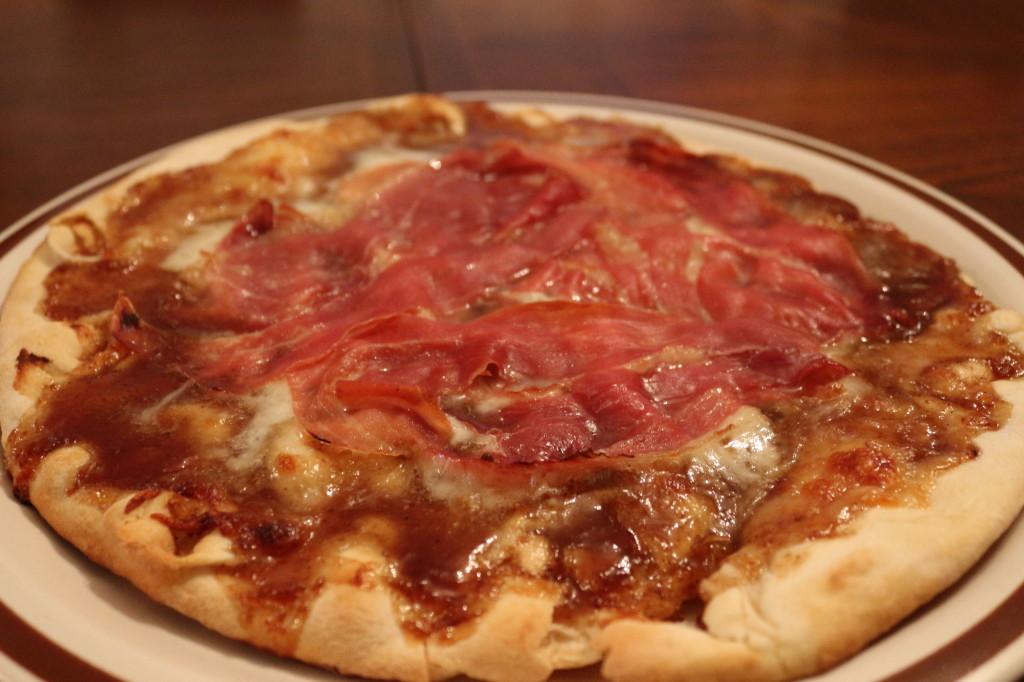 Pizza before arugula