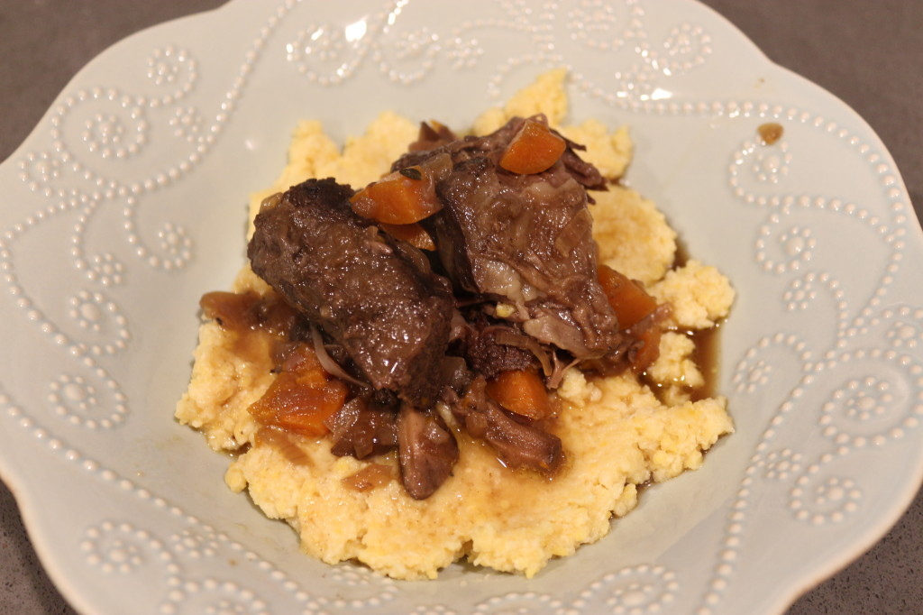 Braised Shortribs with Goat Cheese Polenta