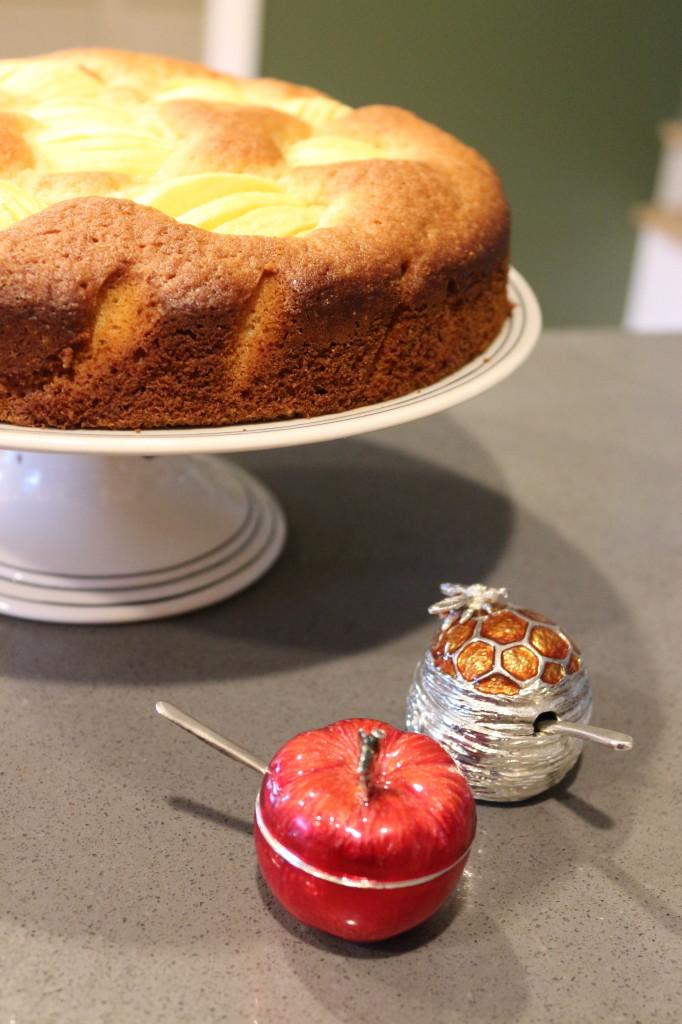 Sunken Apple and Honey Cake