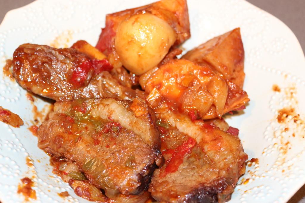 brisket cooked with root veggies