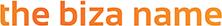 Text header that says the Biza name.