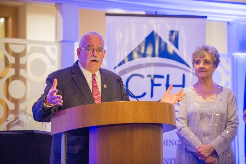 """Catholics for Housing 2018 CFH Gala """"Homes Change Lives,"""" Westfields Conference Center, Chantilly, VA, Friday, October 5, 2018. (Photo by Max Taylor)"""