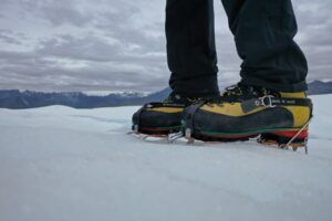 Crampons on Glacier