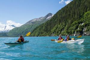 Kayaking in coastal rainforest