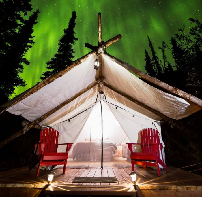 Alaska Luxury Camping Northern Lights