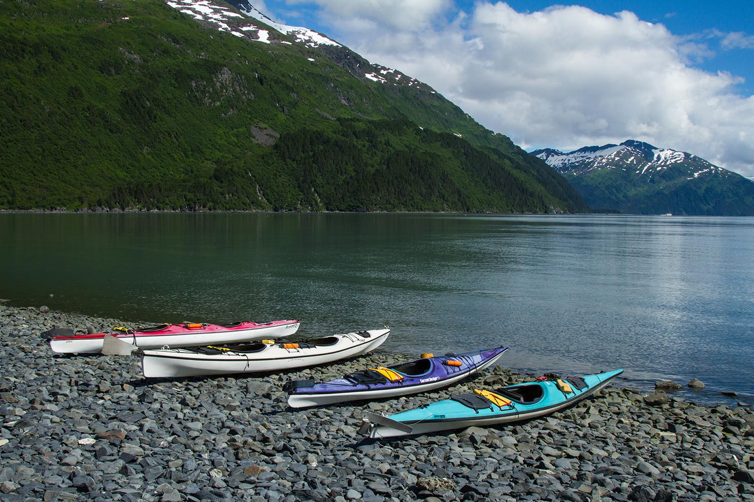 Kayaks at Rest in Prince William Sound