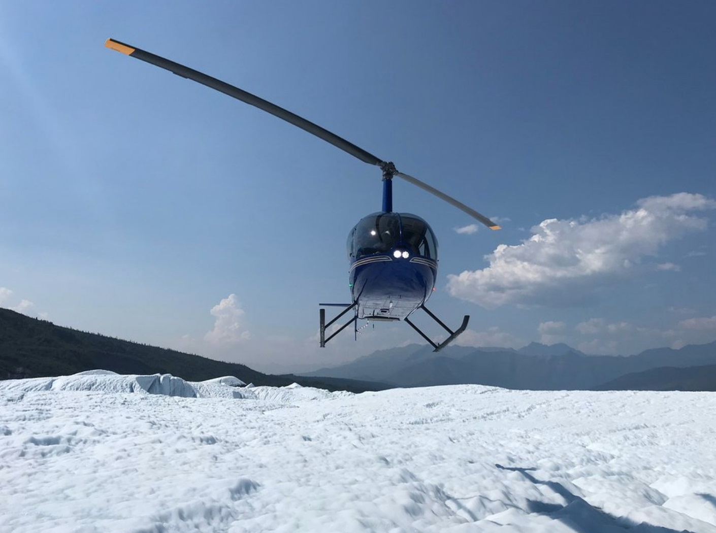Experiencing a Glacier by Helicopter Drop-Off