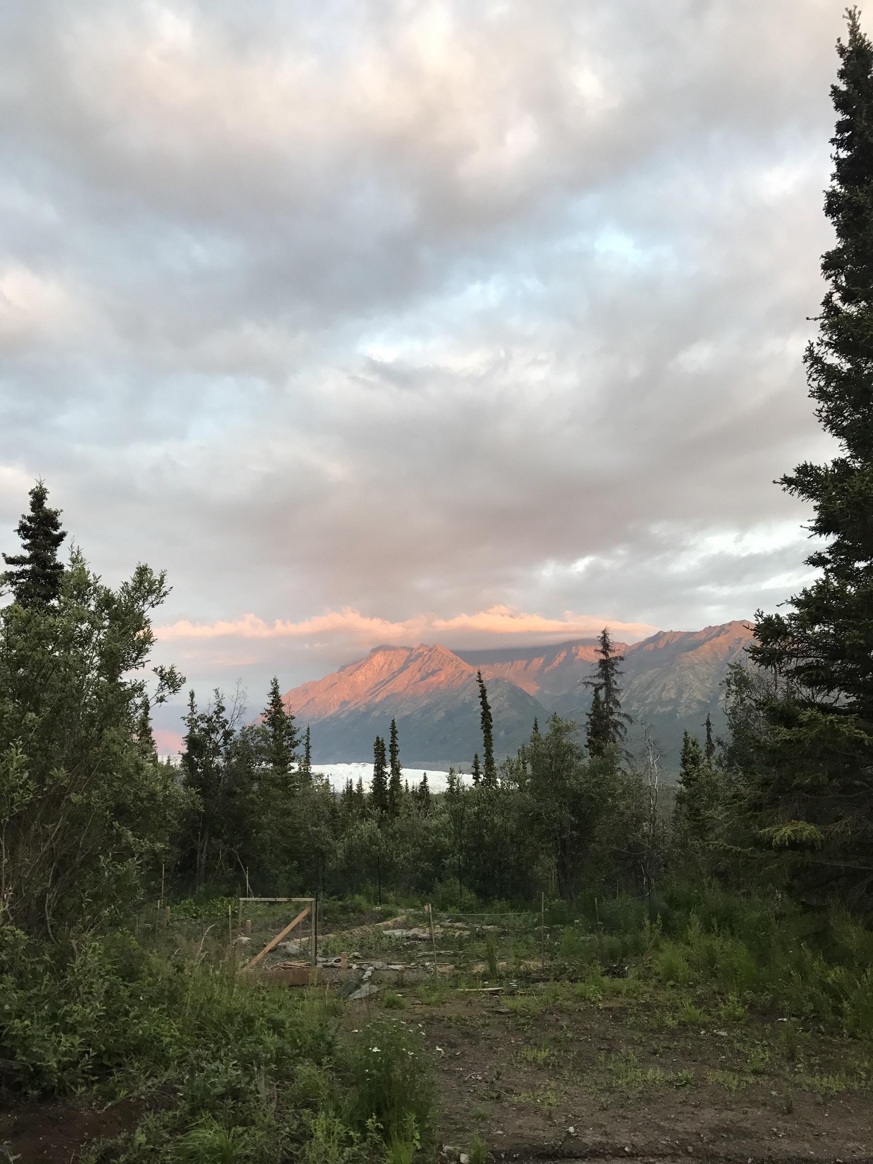 Sunsets on Chugach Mountains