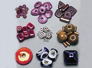 Enamel-Glazed Ceramic Beads