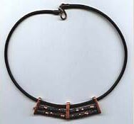 Choker using 3mm dark brown leather.