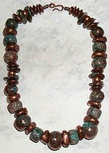 Necklace made with Raku Beads