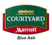 Courtyard Blue Ash King Bed
