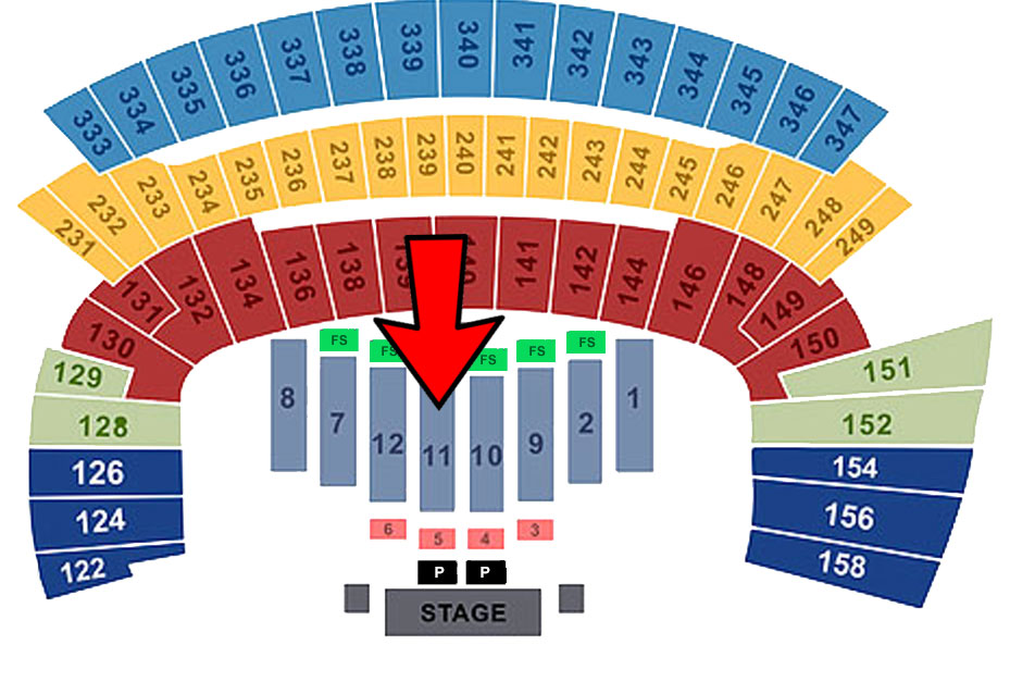Friday (Sec 10/Row 8/ Seat 17)
