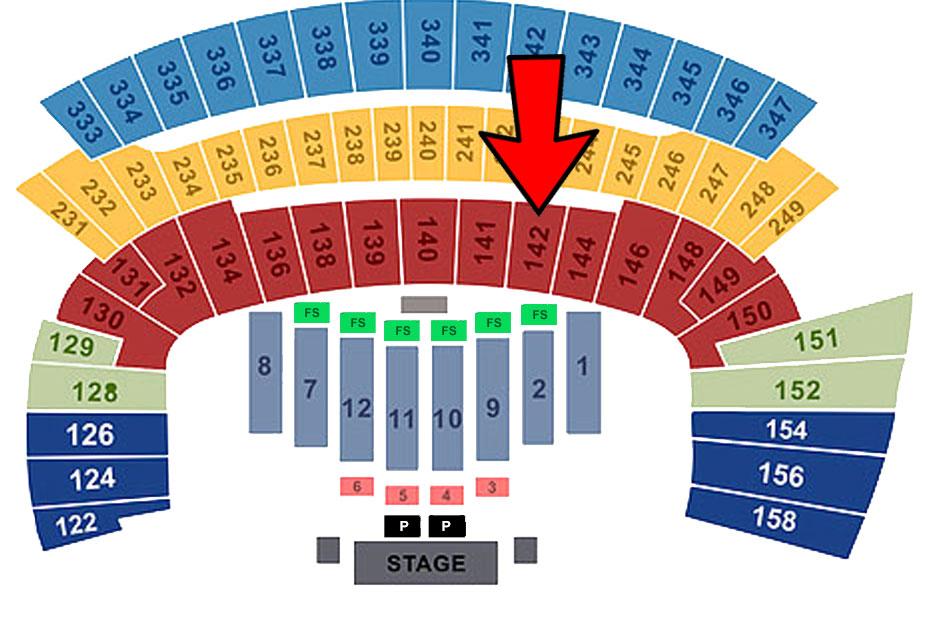 Saturday (Sec 144/Row 19/ Seat 8)