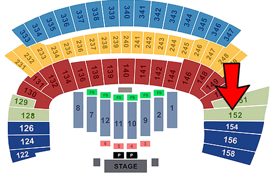 Friday (Sec 152/Row 18/ Seat 14)