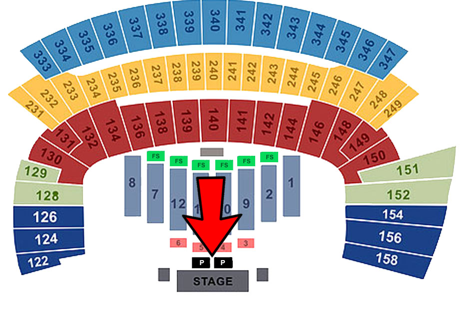 Friday (Sec 0/Row 4/ Seat 2)