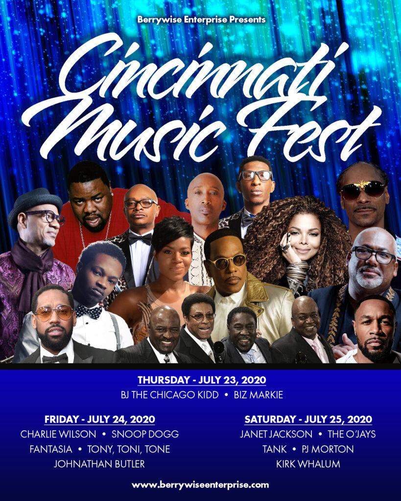 Cincinnati Music Festival Artist Lineup