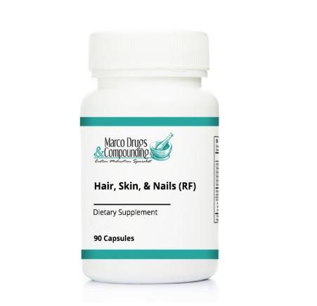 Pill bottle for hair skin nail health