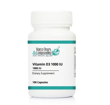 Pill bottle for vitamin D3 1000IU