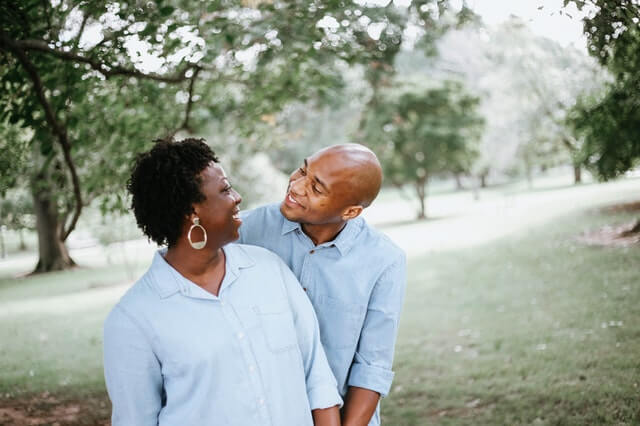 Middle aged couple considering hormone replacement therapy