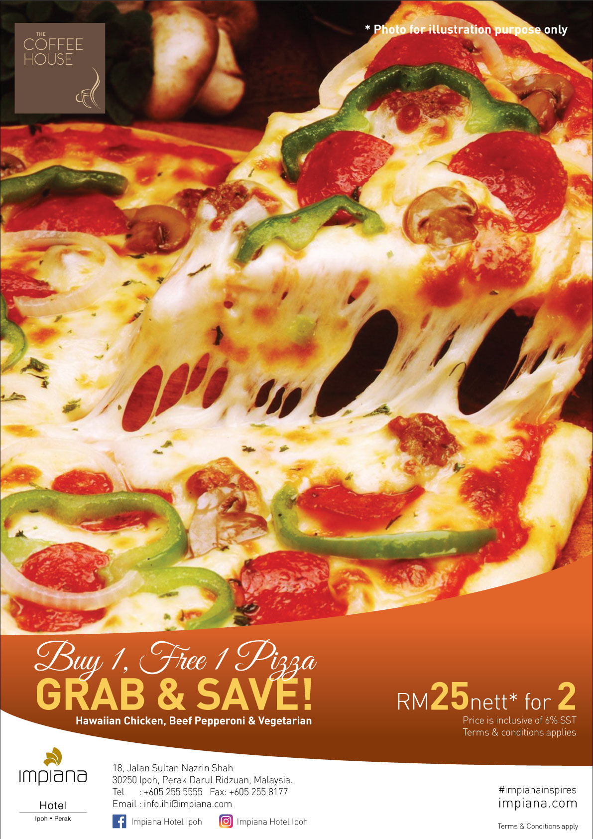 Value for money pizza at Ipoh hotel