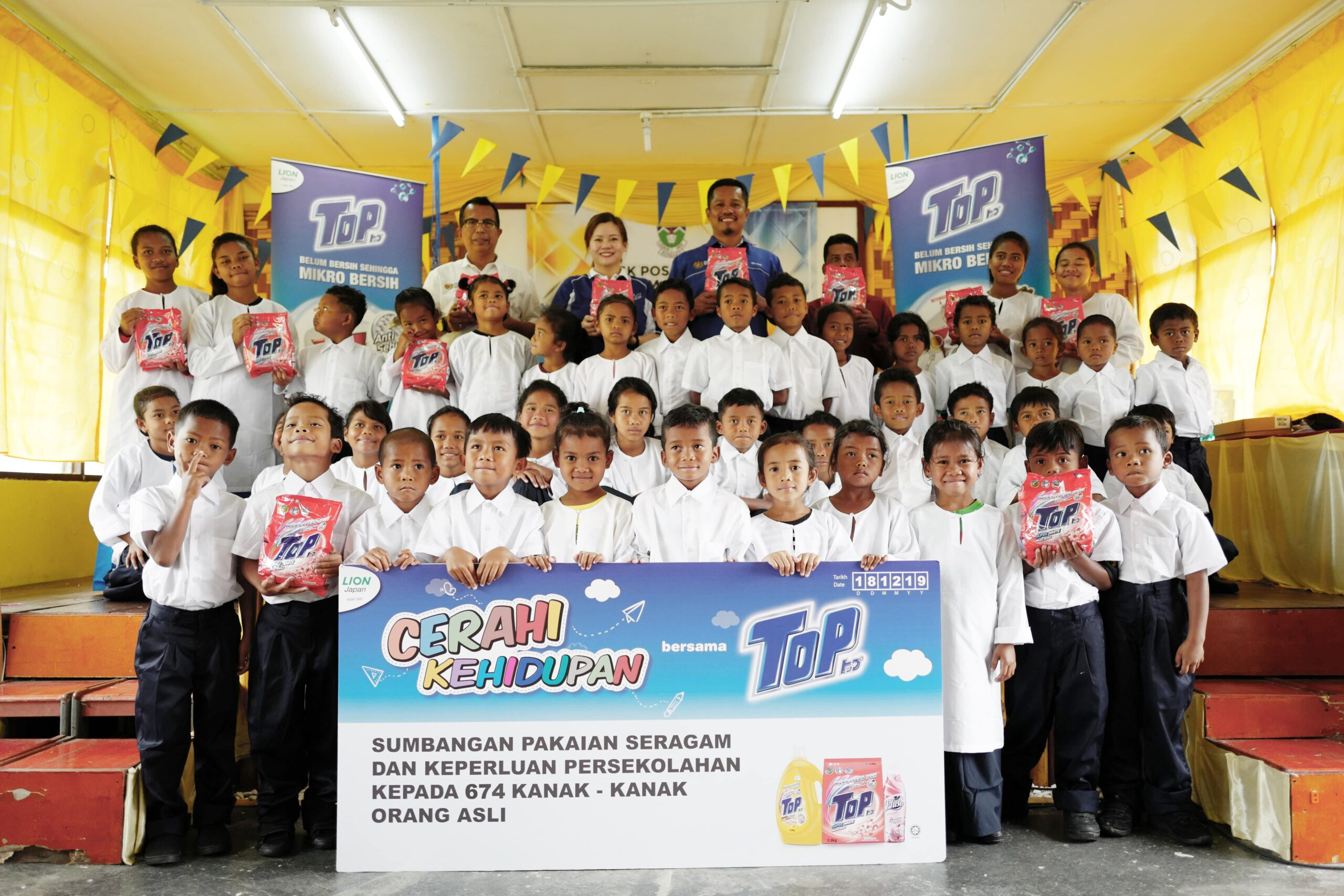 Popular detergent brand does CSR for Orang Asli children