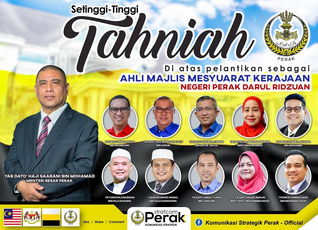 Perak State Exco line-up