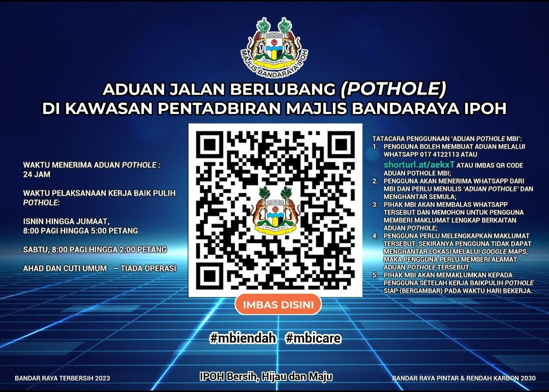 Ipoh City Council launches new platform to report potholes