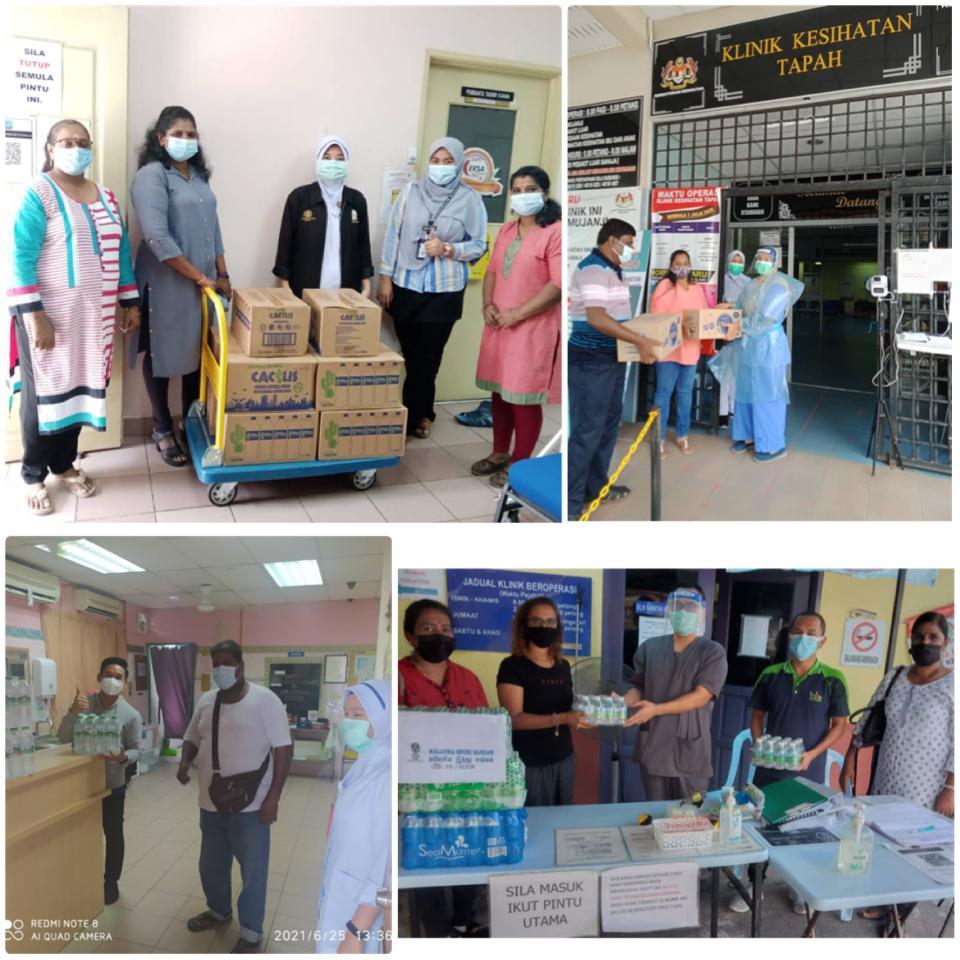 Fifteen Klinik Kesihatan branches in Perak get boost from Malaysia Hindu Sangam