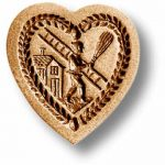Mold 5104 Heart with Chimney Sweep