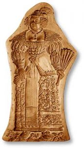 Mold 5843: Woman Springerle Cookie Mold
