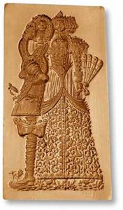 Mold 5960: Baroque Loving Couple Springerle Cookie Mold