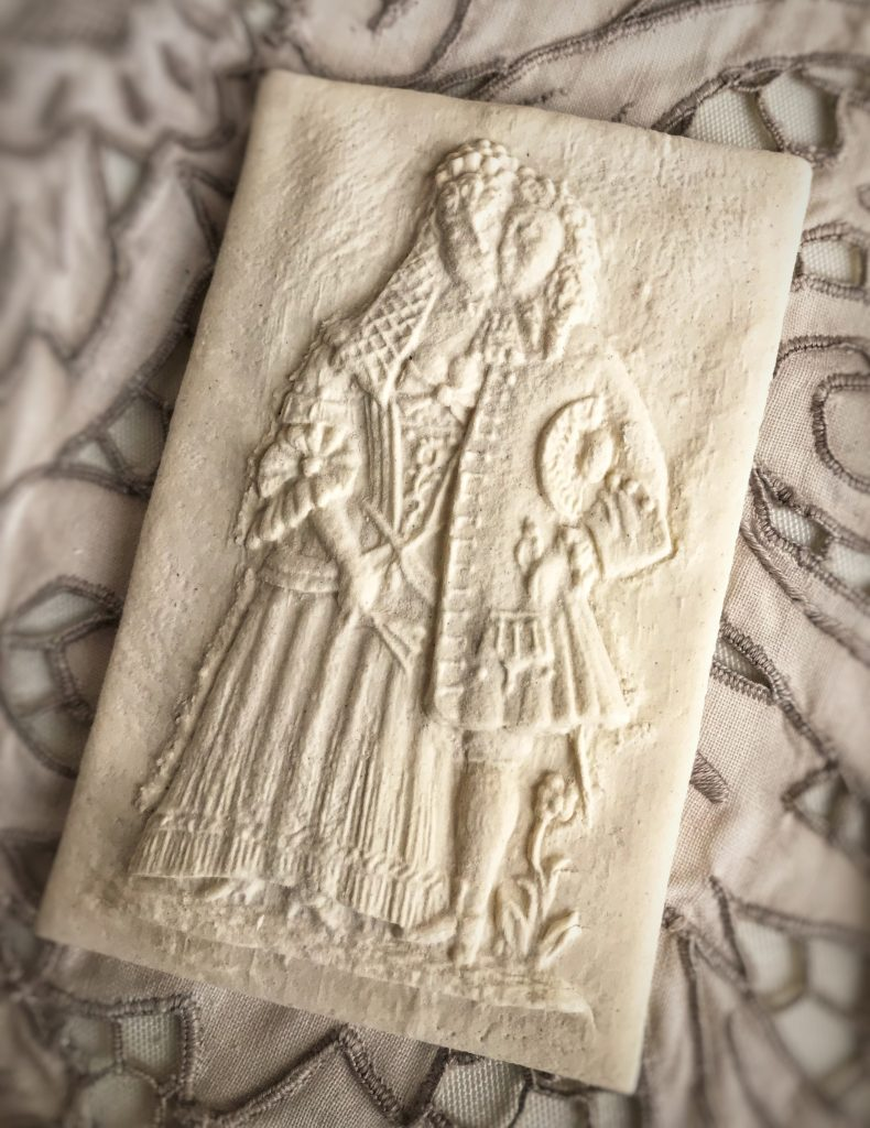 Mold 5986: Loving Couple Springerle Cookie Mold