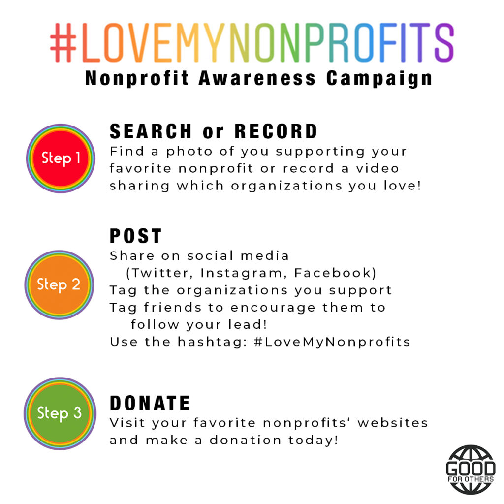 #LoveMyNonprofits Awareness Campaign Powered by Good For Others