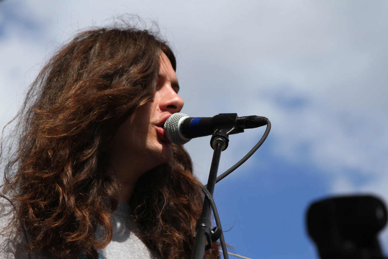 Kurt Vile performs at Auditorium Shores during South By Southwest in Austin, Texas on March 19, 2011.