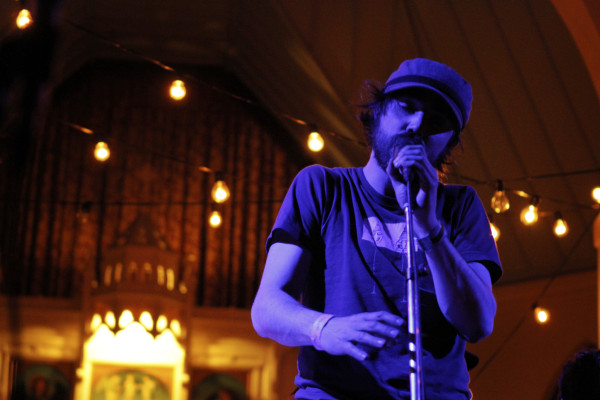 Patrick Watson performs at St. David's Episcopal Church during South By Southwest in Austin, Texas on March 15, 2012.