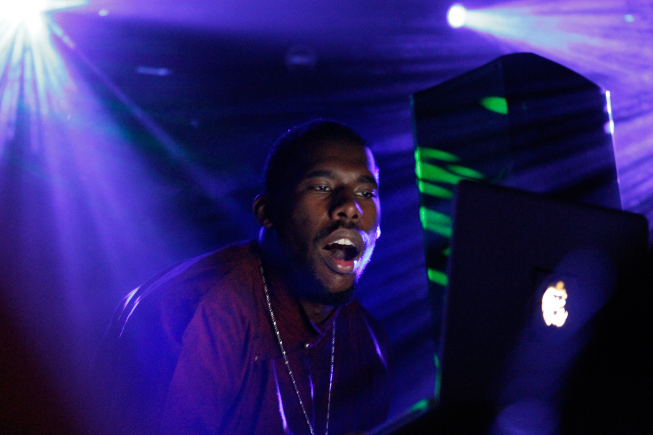 Flying Lotus performs at NPR Music's showcase at (le) Poisson Rouge during the CMJ Music Marathon in New York, NY on Oct. 17, 2012.