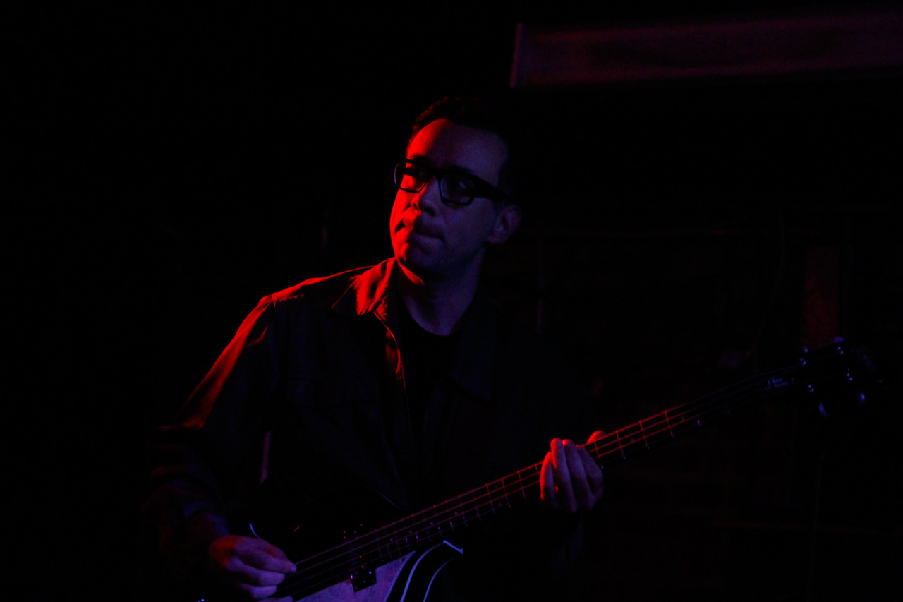 Fred Armisen performs with Telekinesis at Merge Records' showcase at Mercury Lounge during the CMJ Music Marathon in New York, NY on Oct. 18, 2012.