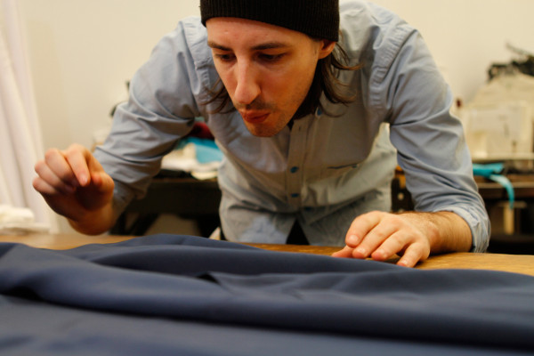 Daniel Vosovic, who started his own line in 2010, says producing within the U.S. gives him control over the entire process, even if it means working on the garments himself.
