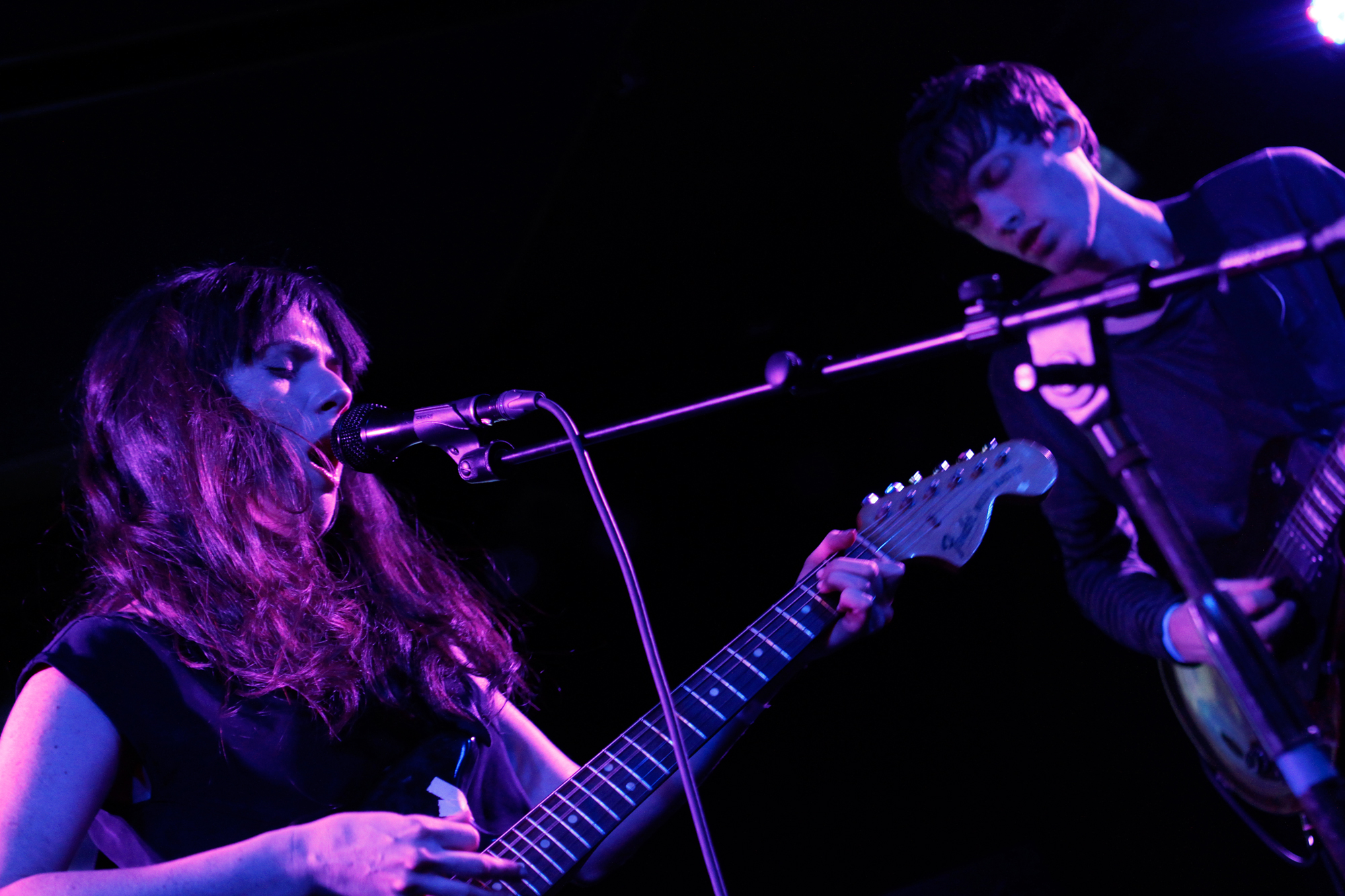 Exitmusic plays at Knitting Factory in Brooklyn, NY on December 6, 2012.