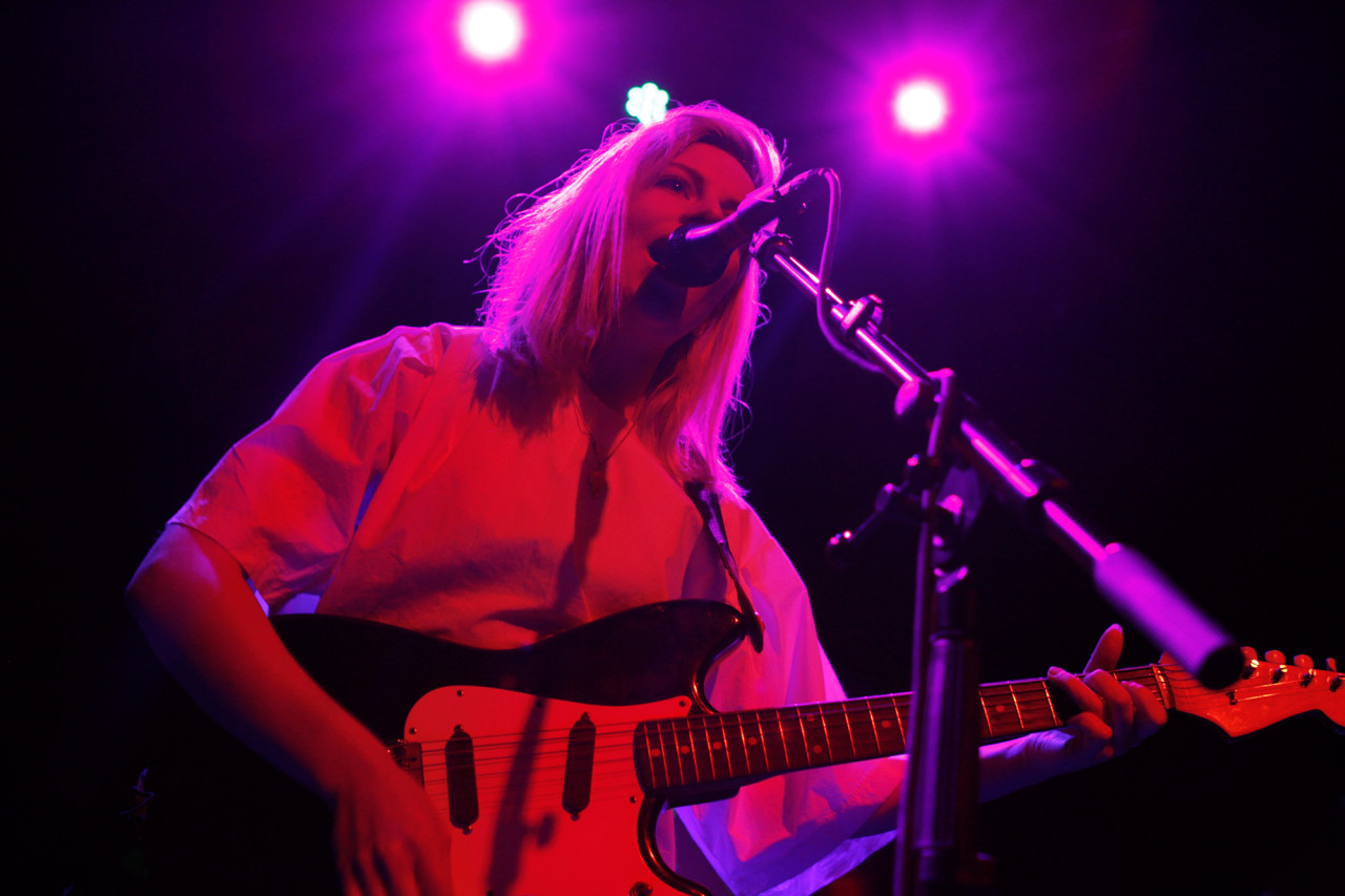 Alvvays plays at Rough Trade in Williamsburg, Brooklyn, NY on July 28, 2014.